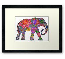 Psychedelic Elephant Framed Print