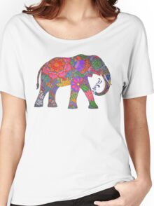 Psychedelic Elephant Women's Relaxed Fit T-Shirt