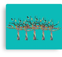 Trees colorful 1N Canvas Print