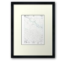 USGS TOPO Map New Jersey NJ Green Bank 20110426 TM Framed Print