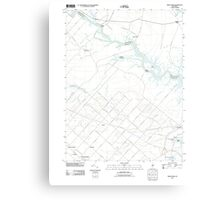 USGS TOPO Map New Jersey NJ Green Bank 20110426 TM Canvas Print