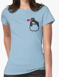 Pingu Pocket Womens Fitted T-Shirt