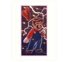 Mario Red Lightning Art Print