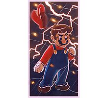 Mario Red Lightning Photographic Print