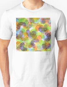 Purple Orange Green Croissants T-Shirt