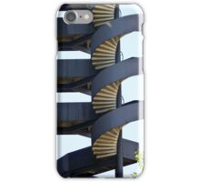 Blue spiral stairs iPhone Case/Skin