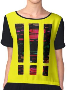Mask our Dull Moments in False Excitement Chiffon Top
