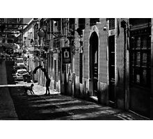 One Man and His Dog  Bairro Alto  Lisbon Photographic Print