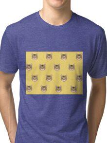 Cat Vector Tri-blend T-Shirt