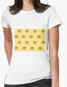Cat Vector Womens Fitted T-Shirt