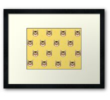 Cat Vector Framed Print