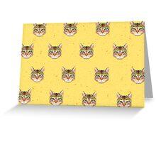 Cat Vector Greeting Card