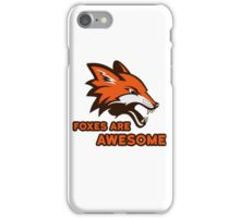 Foxes Are Awesome Cool Retro Cheesy Trashy Clip Art iPhone Case/Skin