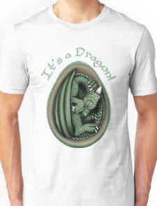 Dragon Egg - It's a Dragon Gender Reveal Joke Green Unisex T-Shirt