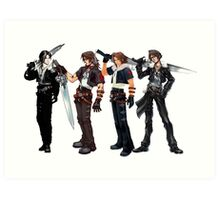 Squall Leon by years Art Print