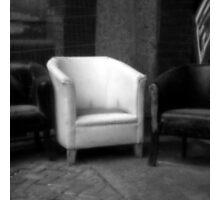 Pinhole Square Chair Photographic Print