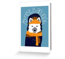 Arctic Fox by Darah King Greeting Card