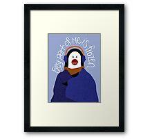 Penguin by Darah King Framed Print