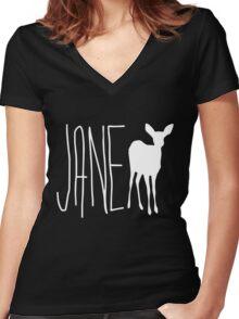 Life is strange Jane Doe Women's Fitted V-Neck T-Shirt