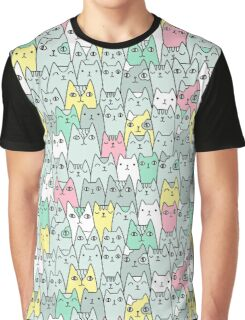 Cats family Graphic T-Shirt
