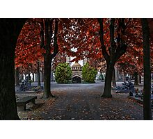 A Monumental Autumn in Milan  Photographic Print