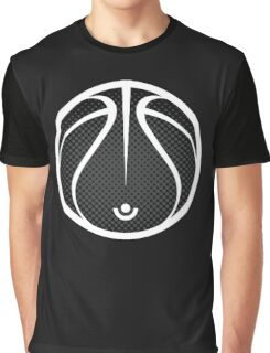Vector Basketball Halftone Graphic T-Shirt