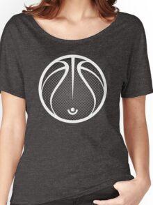 Vector Basketball Halftone Women's Relaxed Fit T-Shirt