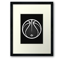 Vector Basketball Halftone Framed Print