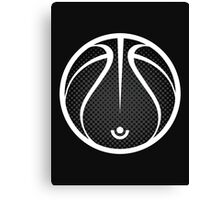Vector Basketball Halftone Canvas Print