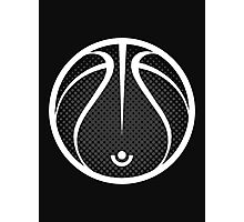 Vector Basketball Halftone Photographic Print