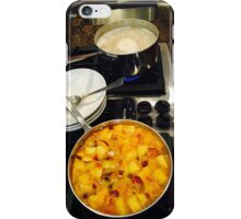 Steel Cut Oat Meal with a Fruit Compote iPhone Case/Skin