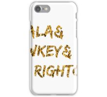 Akala & Lowkey & Mic Righteous White Gold (T-shirt, Phone Case & more) iPhone Case/Skin