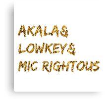 Akala & Lowkey & Mic Righteous White Gold (T-shirt, Phone Case & more) Canvas Print