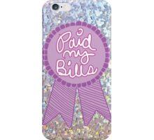 Adulting award ribbon bills feminist teen work office print iPhone Case/Skin