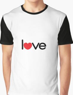 Love (06 - Black & Red on White) Graphic T-Shirt