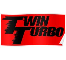 Twin Turbo Car Auto Stickers Poster