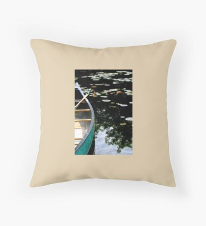 Drifting Among The Lily Pads Throw Pillow