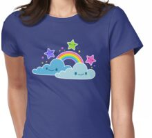 Happy Skies Womens Fitted T-Shirt