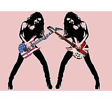 DUELING GUITARS Photographic Print