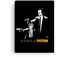 Game of fiction Canvas Print