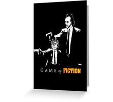 Game of fiction Greeting Card