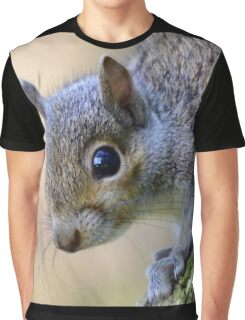 Baby Grey Squirrel Graphic T-Shirt