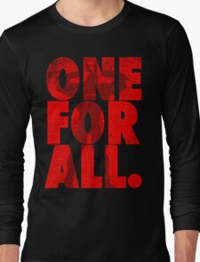 All Might - One for all Long Sleeve T-Shirt