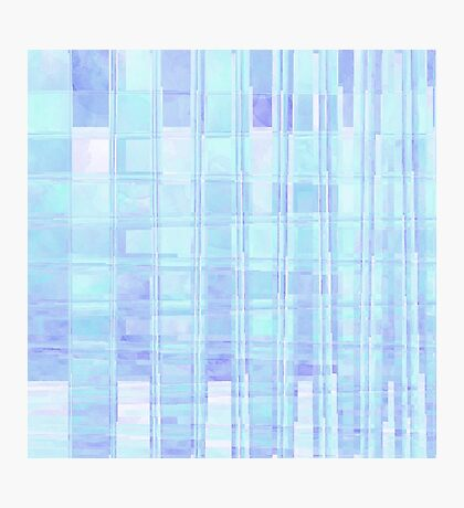 Purple and Aqua Plaid Squares Photographic Print