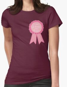 Didn't strangle my boss office work business prize adult tumblr ribbon award Womens Fitted T-Shirt