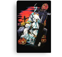 Lady Death halloween Canvas Print