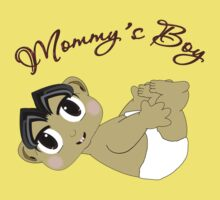 Mommy's Boy Black Hair and Brown Eyes2 Baby Tee