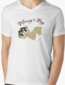 Mommy's Boy Black Hair and Brown Eyes2 Mens V-Neck T-Shirt