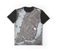 Abstract Map of Manhattan  Graphic T-Shirt