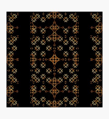 Dark Arabic Stripes Photographic Print